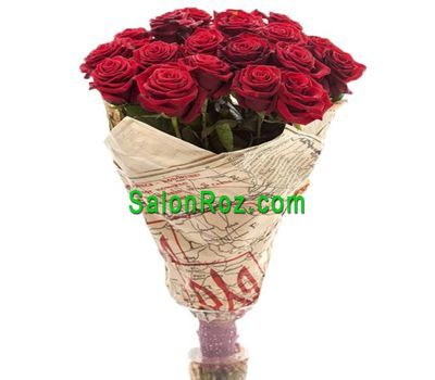"""Bouquet of 19 red roses"" in the online flower shop salonroz.com"