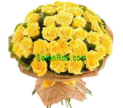 """Bouquet of 51 yellow roses"" in the online flower shop salonroz.com"