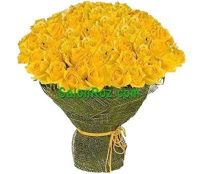 """Bouquet of 101 yellow roses"" in the online flower shop salonroz.com"