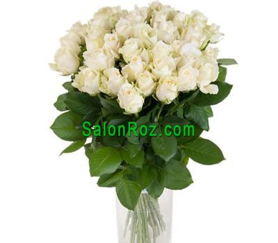 """Bouquet of 33 white roses"" in the online flower shop salonroz.com"