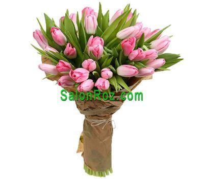 """""""Букет из 35 розовых тюльпанов"""" в интернет-магазине цветов salonroz.com"""