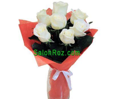 """""""Небольшой букет белых роз"""" в интернет-магазине цветов salonroz.com"""
