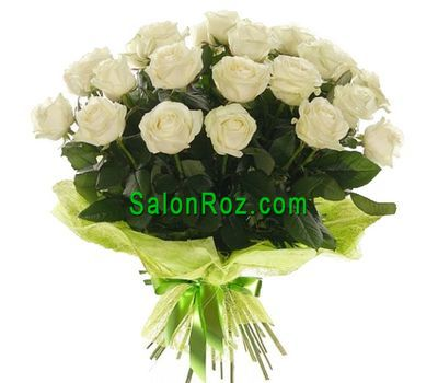"""Bouquet of 19 white roses"" in the online flower shop salonroz.com"