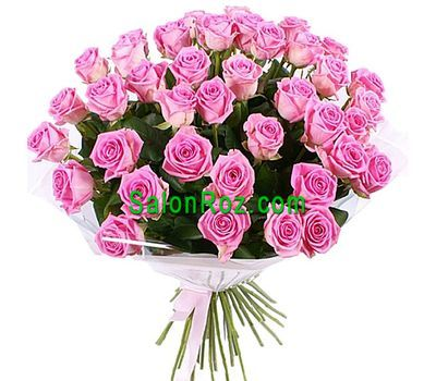 """Bouquet of 51 Pink Roses"" in the online flower shop salonroz.com"