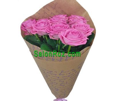 """Bouquet of 11 pink roses"" in the online flower shop salonroz.com"