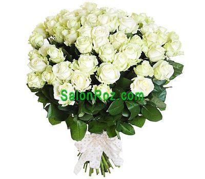 """""""Большой букет белых роз"""" в интернет-магазине цветов salonroz.com"""