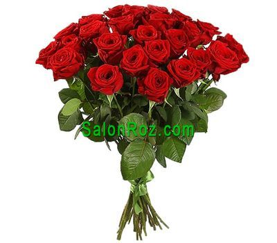 """Bouquet of 33 red roses"" in the online flower shop salonroz.com"