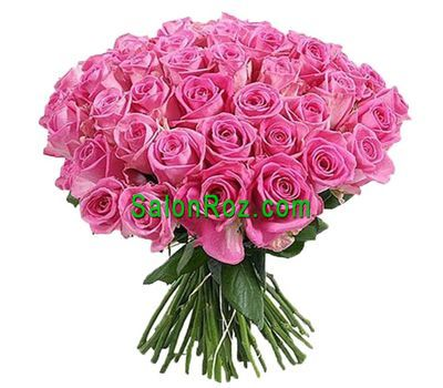 """Bouquet of 61 pink roses"" in the online flower shop salonroz.com"