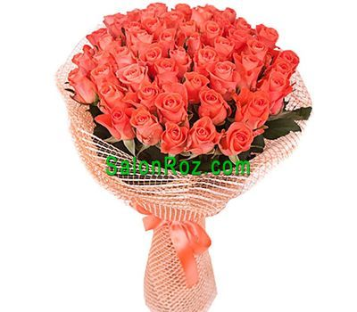 """Bouquet of 65 orange roses"" in the online flower shop salonroz.com"