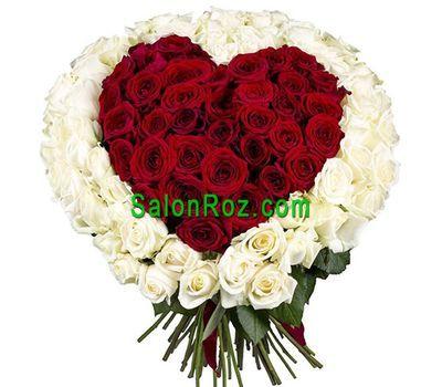 """""""Сердце из 151 розы"""" в интернет-магазине цветов salonroz.com"""