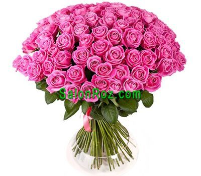 """Bouquet of 101 pink roses"" in the online flower shop salonroz.com"