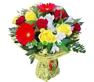 """Lovely birthday bouquet"" in the online flower shop salonroz.com"