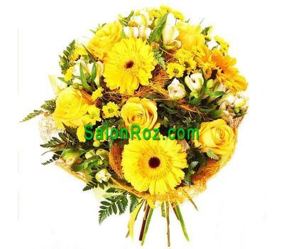 """""""Желтый букет цветов"""" в интернет-магазине цветов salonroz.com"""
