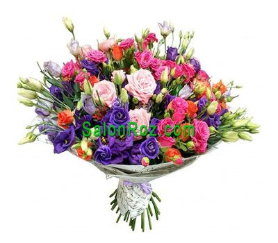 """Multicolor summer bouquet"" in the online flower shop salonroz.com"
