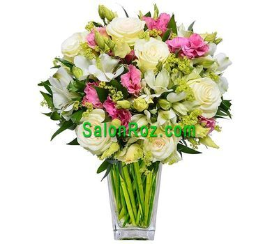"""Delicate bouquet for mom"" in the online flower shop salonroz.com"