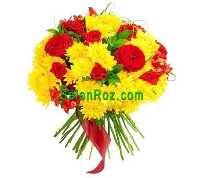 """Bouquet of flowers - Invigorating gold"" in the online flower shop salonroz.com"