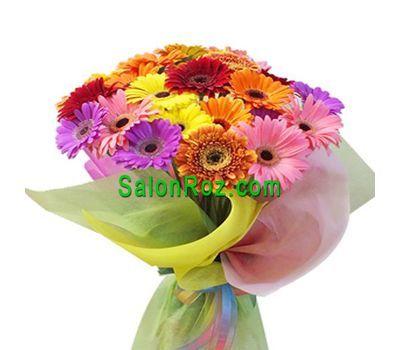 """""""Букет из 37 разноцветных гербер"""" в интернет-магазине цветов salonroz.com"""