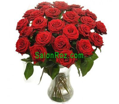 """Bouquet of 25 red roses"" in the online flower shop salonroz.com"