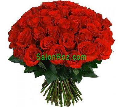 """Bouquet of 55 red roses"" in the online flower shop salonroz.com"