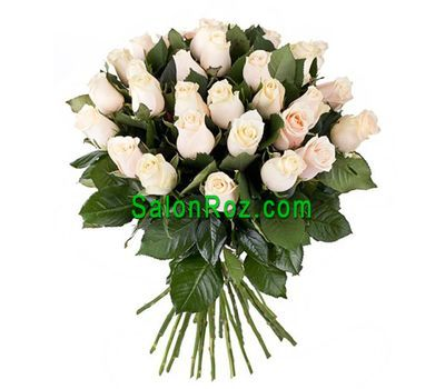 """Bouquet of 31 Cream Roses"" in the online flower shop salonroz.com"