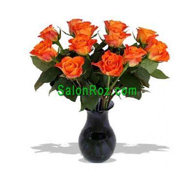 """Bouquet of 11 orange roses"" in the online flower shop salonroz.com"