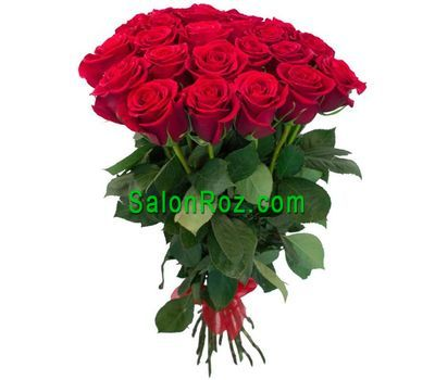 """Bouquet of 21 Red Roses"" in the online flower shop salonroz.com"