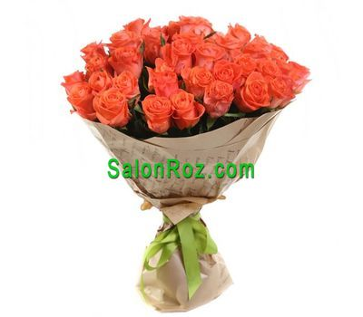 """Bouquet of 35 orange roses"" in the online flower shop salonroz.com"