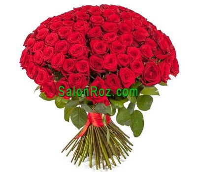 """Bouquet of 101 red roses"" in the online flower shop salonroz.com"