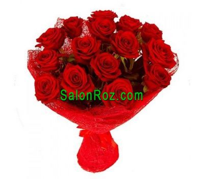 """Bouquet of 17 red roses"" in the online flower shop salonroz.com"
