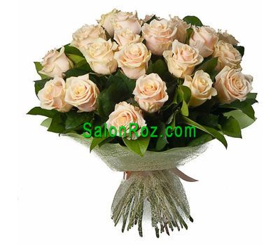 """Bouquet of 25 Cream Roses"" in the online flower shop salonroz.com"