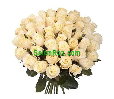 """Bouquet of 45 Cream Roses"" in the online flower shop salonroz.com"