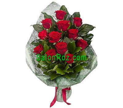 """Bouquet of 13 red roses"" in the online flower shop salonroz.com"