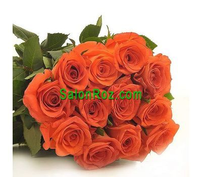 """Bouquet of 15 orange roses"" in the online flower shop salonroz.com"