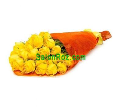 """Bouquet of 23 yellow roses"" in the online flower shop salonroz.com"