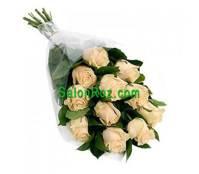 """Bouquet of 11 Cream Roses"" in the online flower shop salonroz.com"