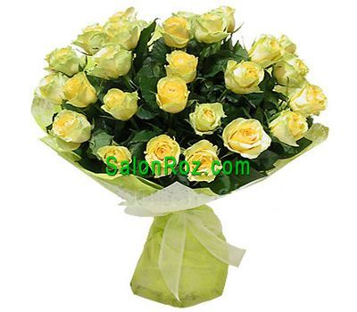 """Bouquet of 35 yellow roses"" in the online flower shop salonroz.com"