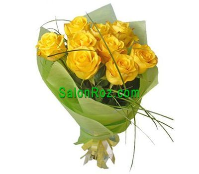 """Bouquet of 9 yellow roses"" in the online flower shop salonroz.com"