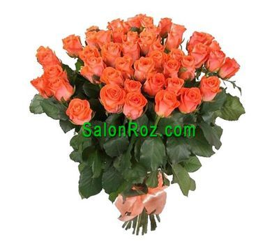 """Bouquet of 45 orange roses"" in the online flower shop salonroz.com"