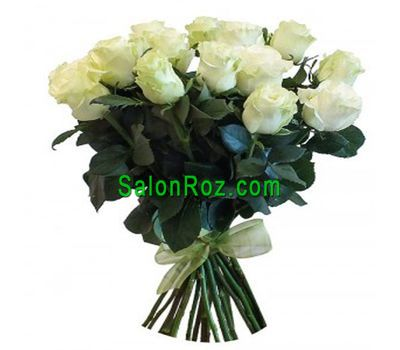 """Bouquet of 23 white roses"" in the online flower shop salonroz.com"
