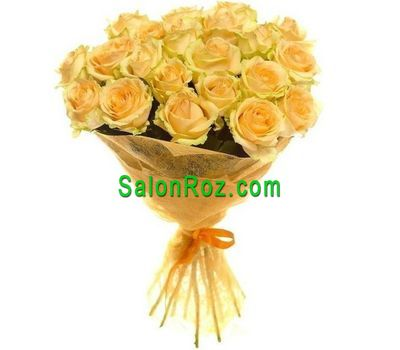 """Bouquet of 21 yellow roses"" in the online flower shop salonroz.com"
