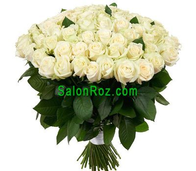 """Bouquet of 101 white roses"" in the online flower shop salonroz.com"