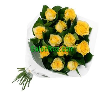 """Bouquet of 13 yellow roses"" in the online flower shop salonroz.com"