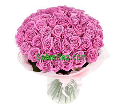 """Bouquet of 55 pink roses"" in the online flower shop salonroz.com"