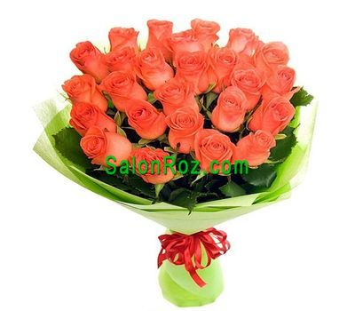 """Bouquet of 19 orange roses"" in the online flower shop salonroz.com"
