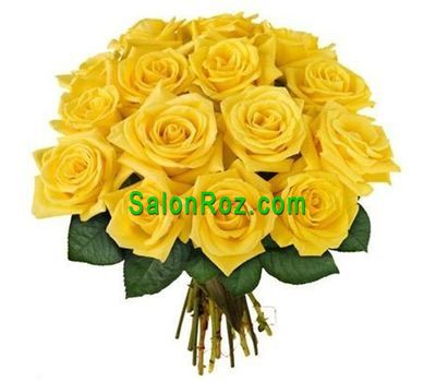 """Букет із 15 жовтих троянд"" в интернет-магазине цветов salonroz.com"