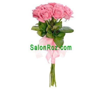 """Bouquet of 9 pink roses"" in the online flower shop salonroz.com"