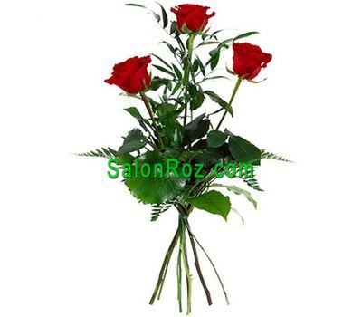 """Bouquet of 3 red roses"" in the online flower shop salonroz.com"