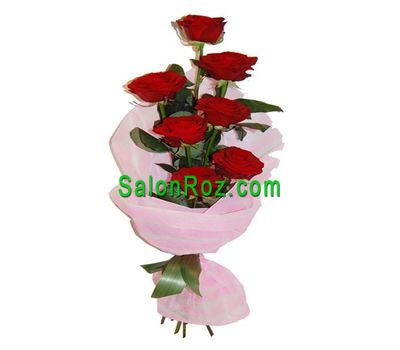 """Bouquet of 7 red roses"" in the online flower shop salonroz.com"