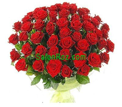 """Bouquet of 65 red roses"" in the online flower shop salonroz.com"