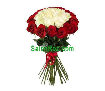 """""""Букет із 25 імпортних троянд"""" в интернет-магазине цветов salonroz.com"""
